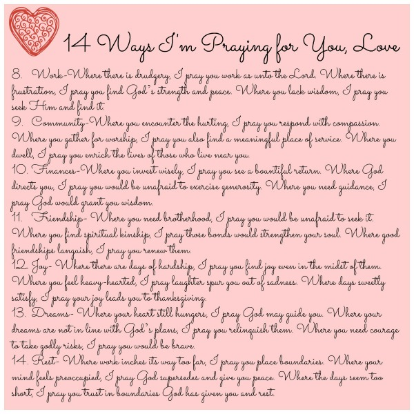 14 ways side 2 - Saint Valentine Prayer