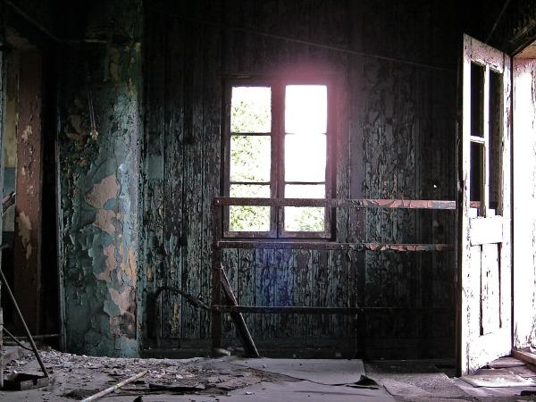 rusting window
